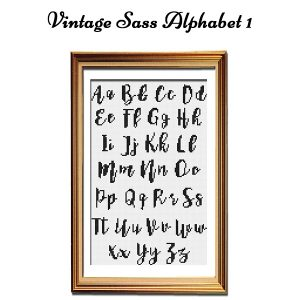 Vintage Sass cross stitch Alphabet 1