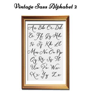 Vintage Sass cross stitch Alphabet 2