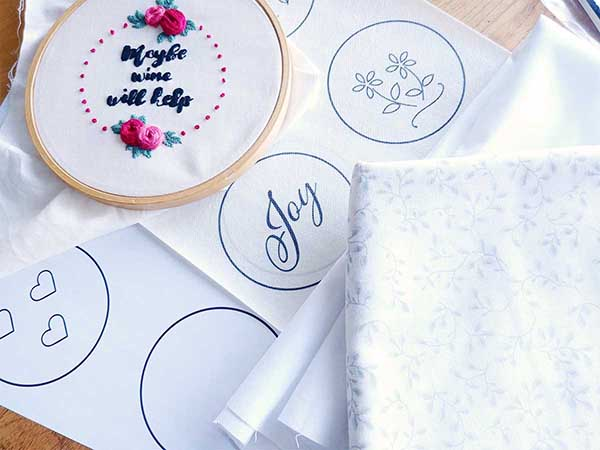 Top 3 ways of transferring embroidery patterns to fabric