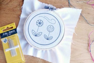 Embroidery tutorial: straight stitch, backstitch, and running stitch