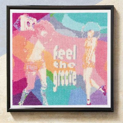 Feel the Groove cross stitch pattern