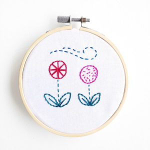 Running stitch free embroidery pattern