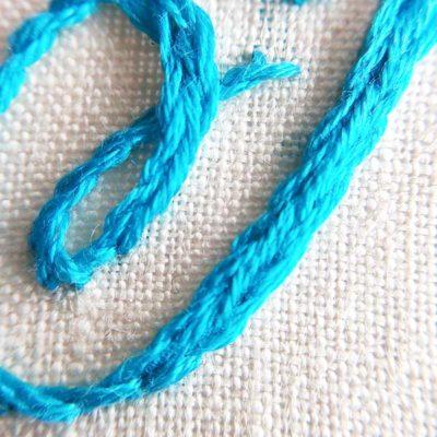 Split stitch stem stitch