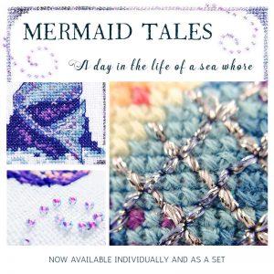 Mermaid Tales cross stitch pattern set
