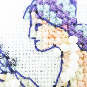 Mirror Mirror mermaid cross stitch pattern