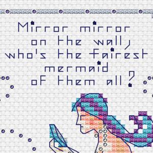 Mirror Mirror mermaid cross stitch PG version