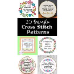 Sarcastic cross stitch pattern feature