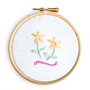 Chain stitch lazy daisy stitch