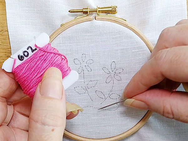 Embroidery Stitch Tutorial The Chain Stitch And Lazy Daisy