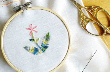 Leaf stitch: how to embroider leaves