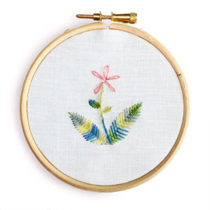 Leaf stitch hand embroidery