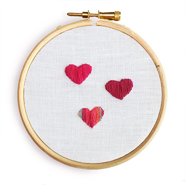 Satin stitch embroidery pattern
