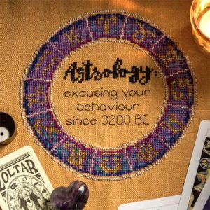 Astrology cross stitch pattern