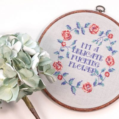 Delicate Flower cross stitch pattern