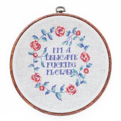 Delicate Flower cross stitch pattern