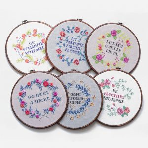 Go Bloom Yourself cross stitch pattern set