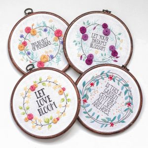 Go Bloom Yourself hand embroidery pattern set