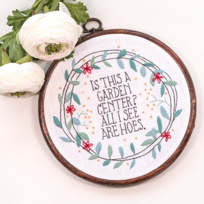 Garden Hoes hand embroidery pattern