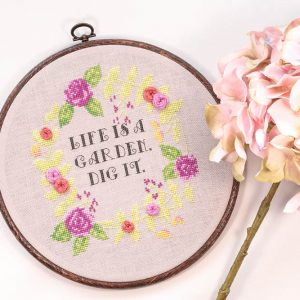 Life is a Garden cross stitch pattern