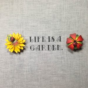 Life is a Garden cross stitch pattern detail