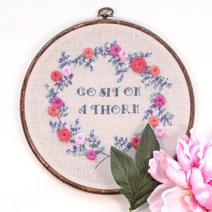 Sit on a Thorn Cross Stitch Pattern