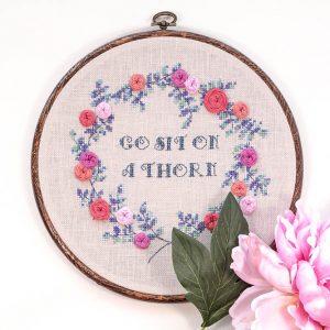 Sit on a Thorn Cross Stitch Pattern
