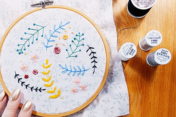 Sulky thread for embroidery and cross stitch