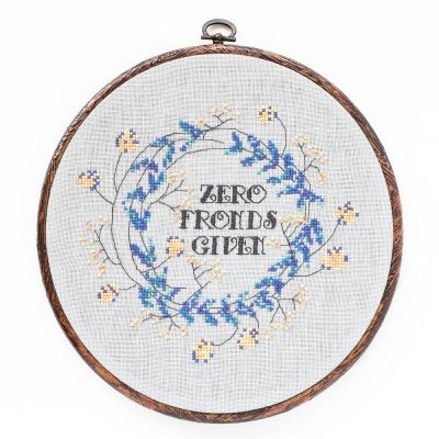 Zero Fronds Given cross stitch pattern