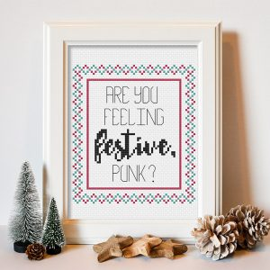 Are You Feeling Festive cross stitch pattern
