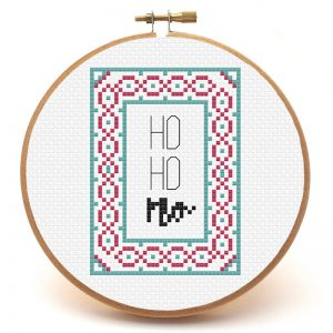 Ho Ho No cross stitch pattern