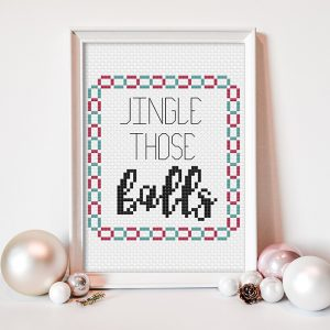 Jingle Those Balls cross stitch pattern