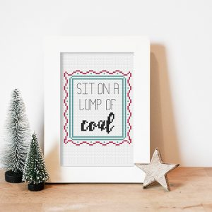 Lump of Coal cross stitch pattern