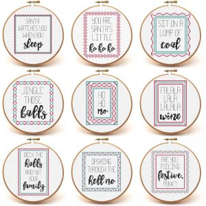 Merry Snarkmas cross stitch pattern set