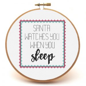 Santa's Watching You cross stitch pattern