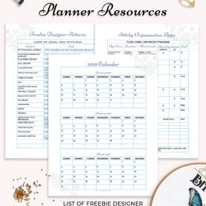 stitching planner resources printable