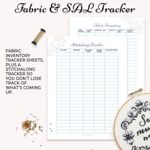 fabric inventory SAL tracker printable