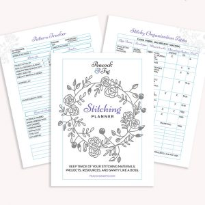 stitching planner tracker printable