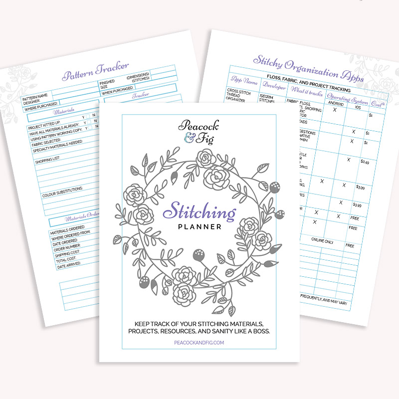 stitching planner tracker printable
