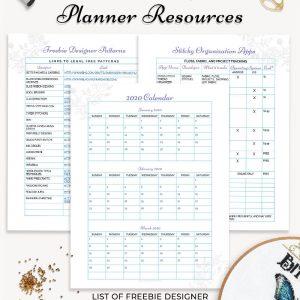 stitching planner 2020 calendar