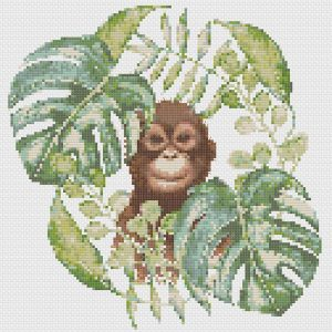 Orangutan Dreams cross stitch pattern