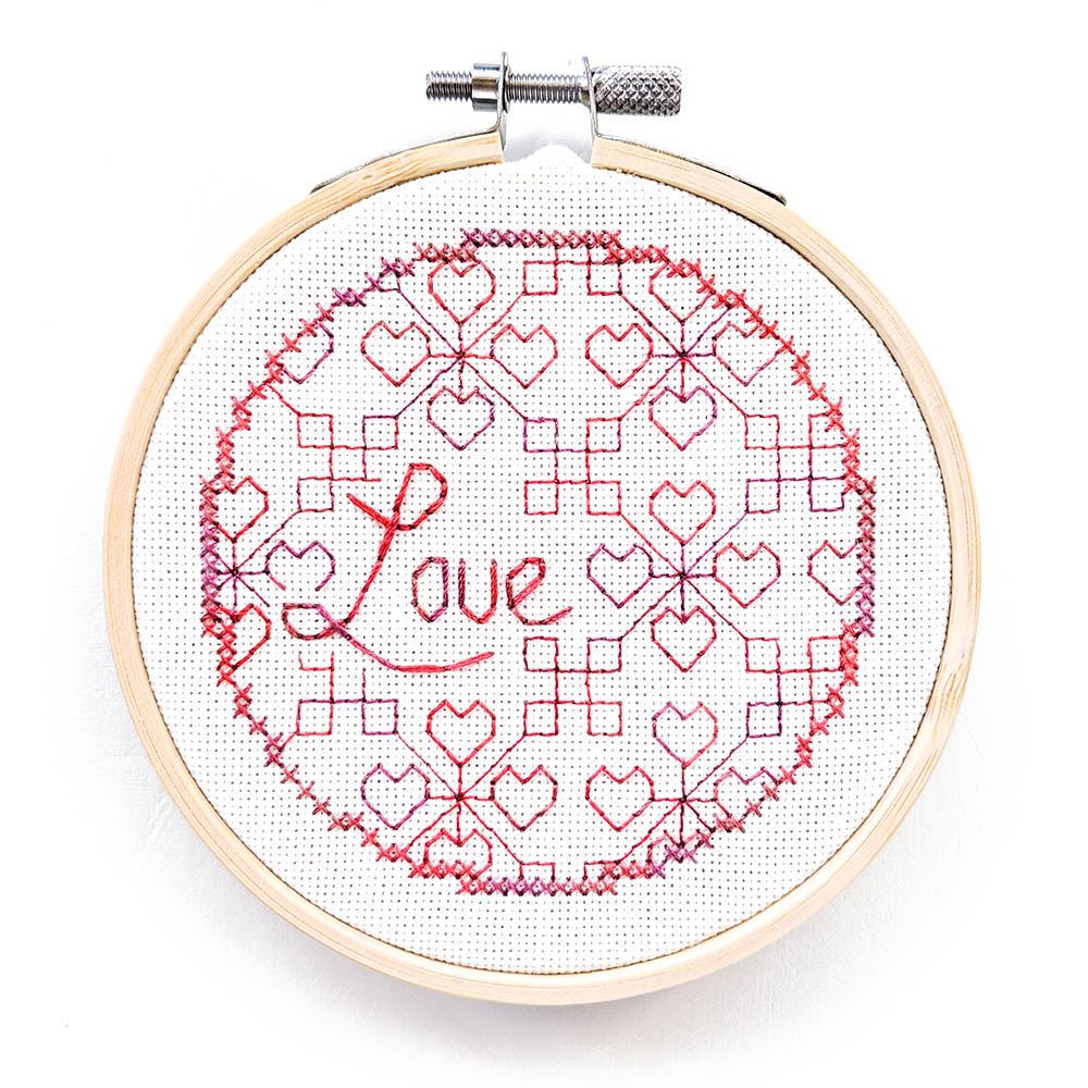 Blackwork Love blackwork pattern