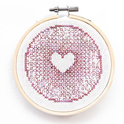 Converging Love blackwork pattern