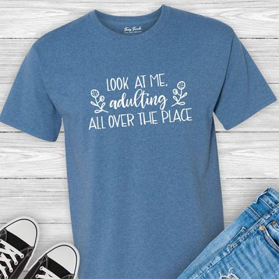Adulting All Over Suzy Swede t-shirt