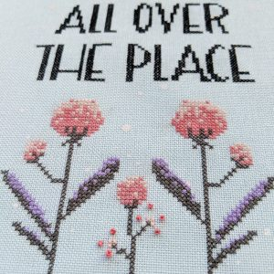 Adulting all over cross stitch pattern