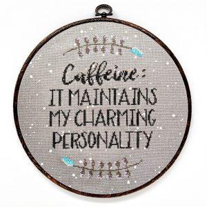 Caffeine cross stitch pattern