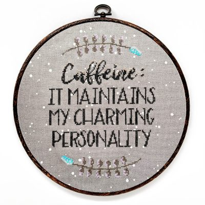 Caffeine cross stitch pattern