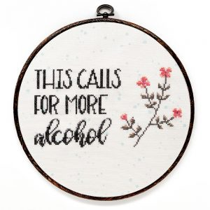 More alcohol cross stitch pattern