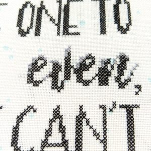 One to Even cross stitch pattern
