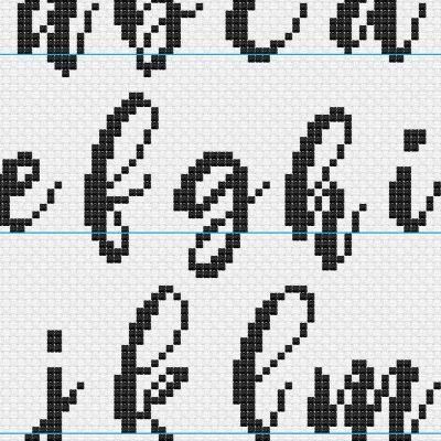 Adulting 101 Alphabet 1 cross stitch pattern
