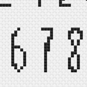 Adulting 101 Alphabet 2 cross stitch pattern
